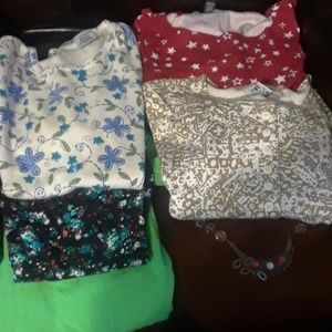 6 tops, size M